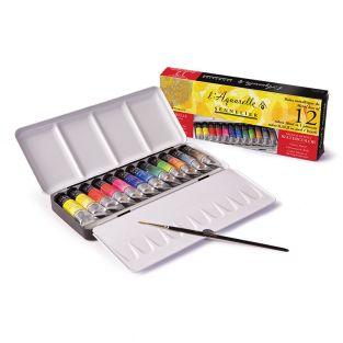 Watercolour metal box - 12 tubes 10 ml