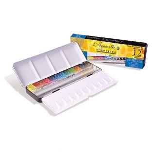 Watercolour metal box - 12...