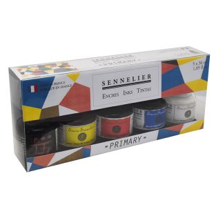 Indian Ink Set - Primary Colours - 5...
