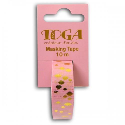 Masking tape - pink with golden spots