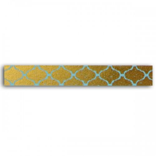 Masking tape - golden with blue patterns