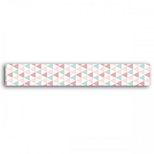 Masking tape - green & pink triangles
