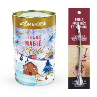 Tisane bio Magie de Noël + paille...