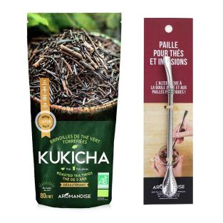 Japanese organic tea Kukicha 120 g +...