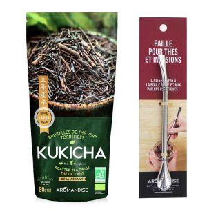Té orgánico japonés Kukicha 120 g +...