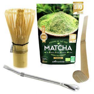 Coffret thé Matcha + fouet + cuillère...