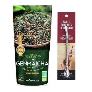 Thé vert Bio et riz complet Genmaicha...