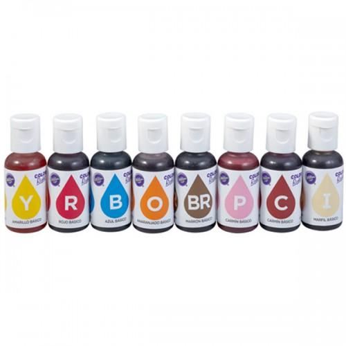 Kit de 8 colorantes alimentarios x 19 ml
