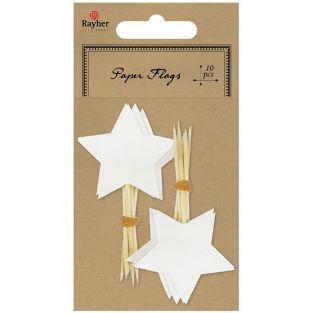 10 piques étoile - blanc