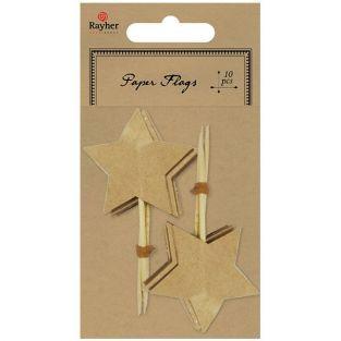 10 picas estrellas - Marrón claro
