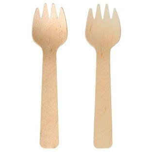 6 fourchettes en bois 10,5 cm