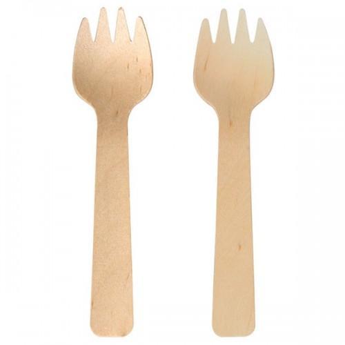 6 forks wooden