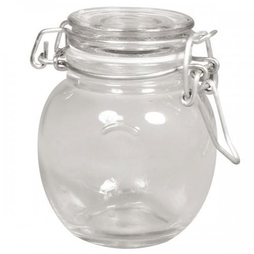 Jar with hinged lid
