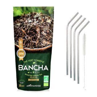 Thé vert bio japonais Bancha Hojicha...