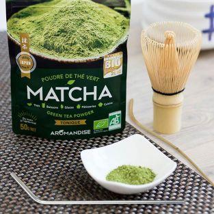 Té verde orgánico Matcha + batidor +...