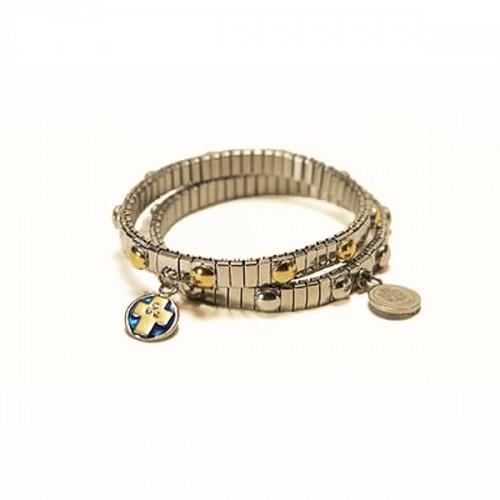 Bracelet & dizainier metal cross