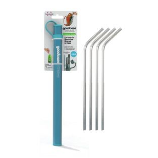 6 stainless steel straw with brush