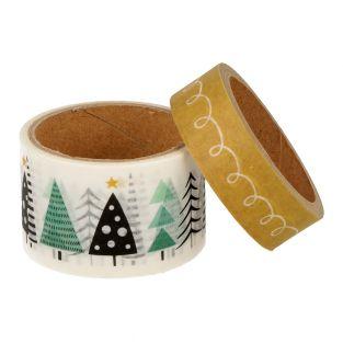 2 masking tape de Noël sapin - 5 m x...