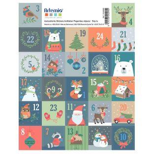 27 adesivi francobolli di Natale