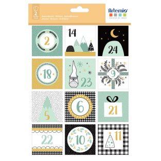 24 adesivi quadrati del calendario...