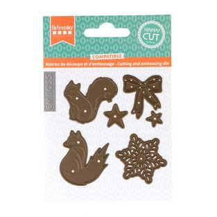 Cutting and embossing die - squirrel...