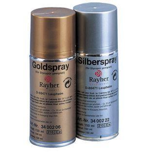Spray pour polystyrène - argent