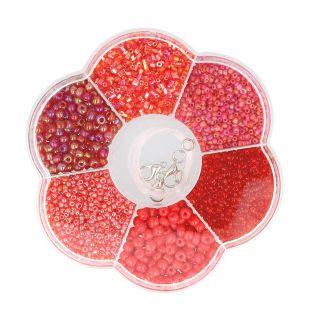 Assortiment de perles en plastique...
