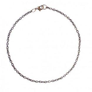 Silberfarbene Armbandkette - 20 cm x...