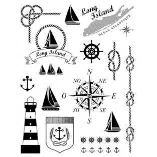 Tampons transparents - thème marin