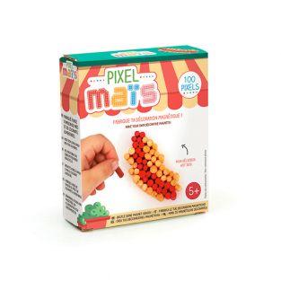 Magnet junk food in pixel corn - Hot dog