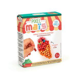 Magnet junk food en pixel maïs - Glace