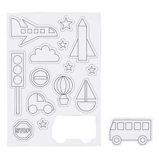 15 white magnets to decorate - Transport