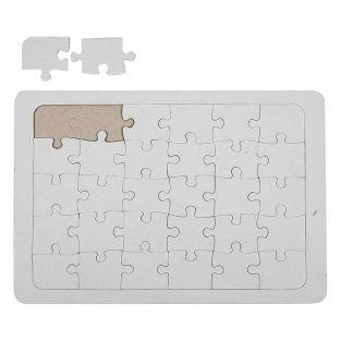 Deko-Puzzle weiß 21 x 30 cm - 30 Teile