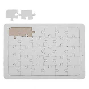 Puzzle decorativo blanco 21 x 30 cm -...