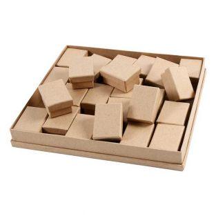 24 kleine Pappschachteln - 7 x 5 x...