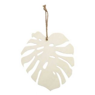 Tropical Monstera wooden leaf to...