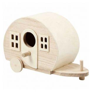 Wooden caravan - 18 x 11 x 8 cm
