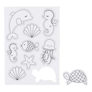 9 Magneti decorativi bianchi - Sea World