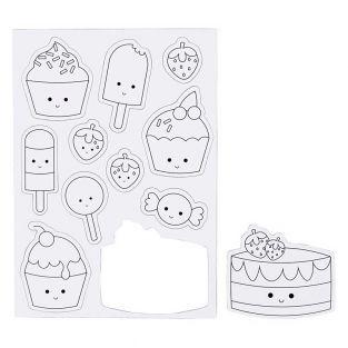 11 weiße Dekorationsmagnete - Eiscreme