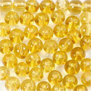 45 perles en verre à facettes rondes...