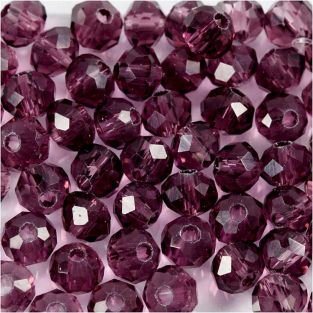 45 round faceted beads Ø 4 mm - purple