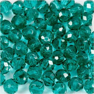 45 round faceted beads Ø 4 mm - blue...