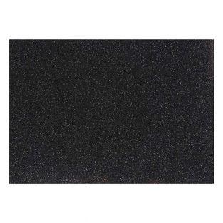 Carta da stiro glitterata nera - 14,8...