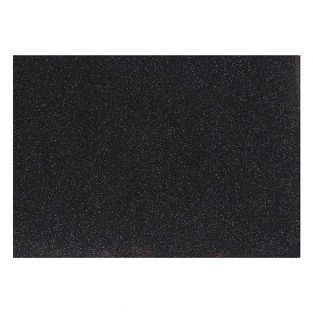 Papel planchado negro con purpurina -...