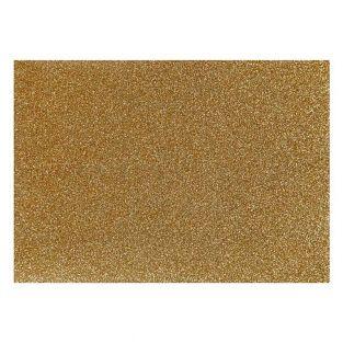 Goldglitzer-Bügelpapier - 14,8 x 21 cm