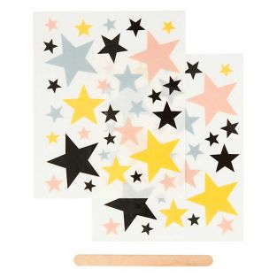 2 sheets of decals stars 12 x 15 cm