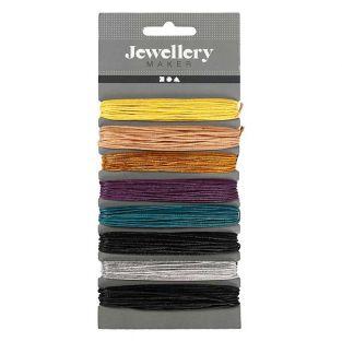 8 farbige gewachste Baumwollschnüre -...