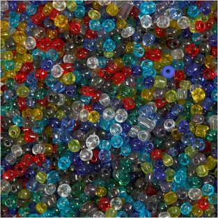 Multicolored seed beads transparent Ø...