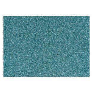 Blaues Glitzer-Bügelpapier - 14,8 x...