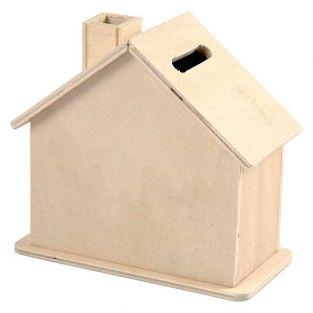 Hucha de madera para decorar la casa...